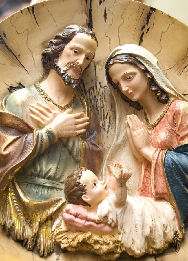 Nascimento da escultura de Jesus foto de stock