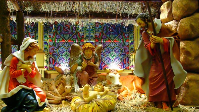 Nascimento de Jesus imagem de stock