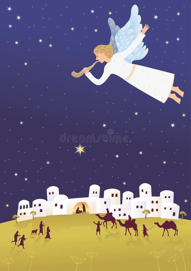 Nascimento de Jesus em Bethlehem fotografia de stock royalty free