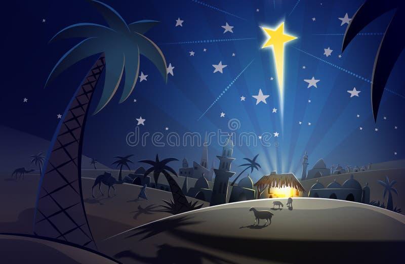 Nascita di Cristo illustrazione vettoriale