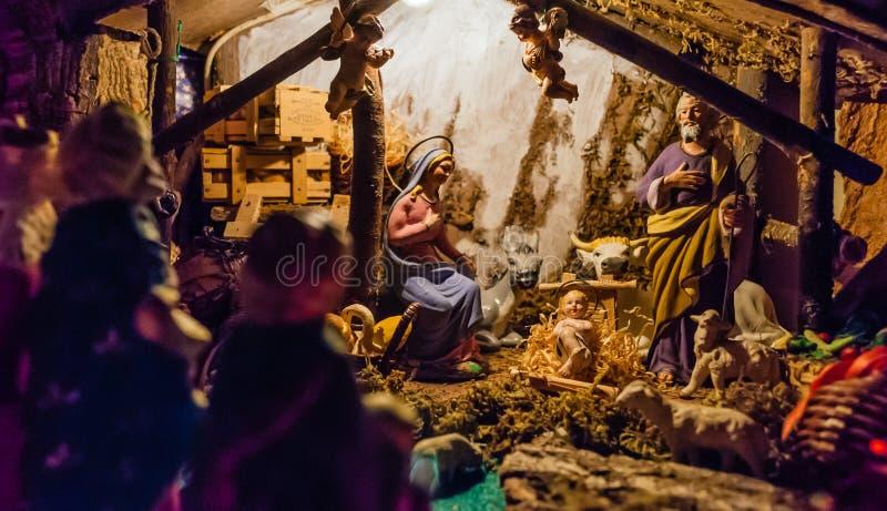 Nascita di Gesù nella mangiatoia fotografia stock libera da diritti