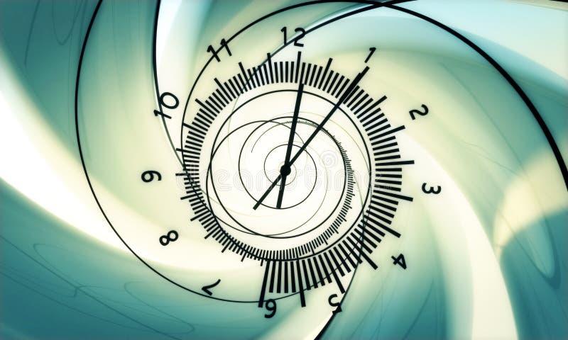 Nascita di tempo. ciao la risoluzione 3d rende. illustrazione vettoriale