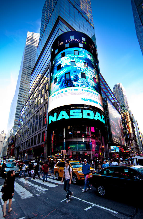 Download The NASDAQ Stock Market editorial photography. Image of finance - 14324222