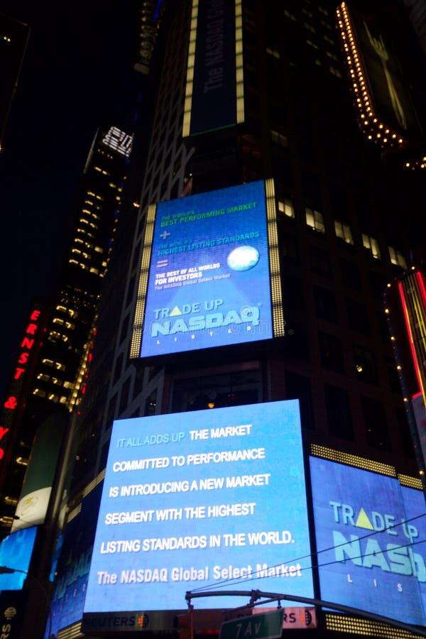 Nasdaq-Zeichen manchmal Quadrat, Manhattan stockfotografie