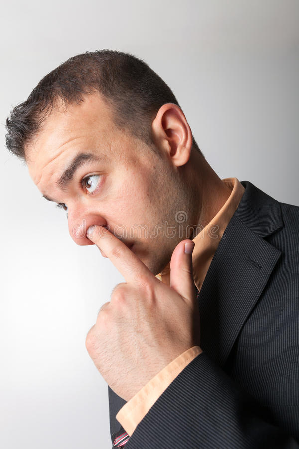 Nasen-Pflücker lizenzfreie stockfotos