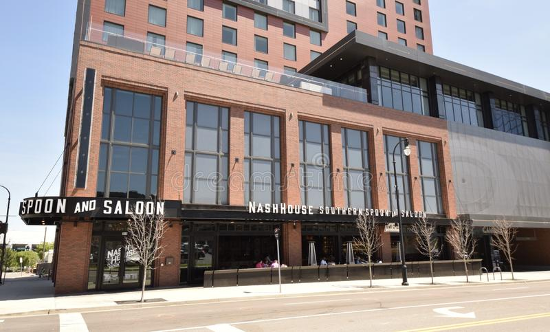 Nash House Southern Spoon e ristorante del salone, Nashville, TN immagini stock libere da diritti