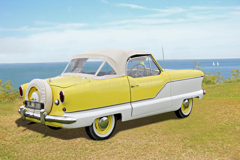 Nash metropolitan car. Photo of an american designed nash metropolitan vintage car showing at whitstable classic vintage car show 2015. photo ideal for outdoor royalty free stock image