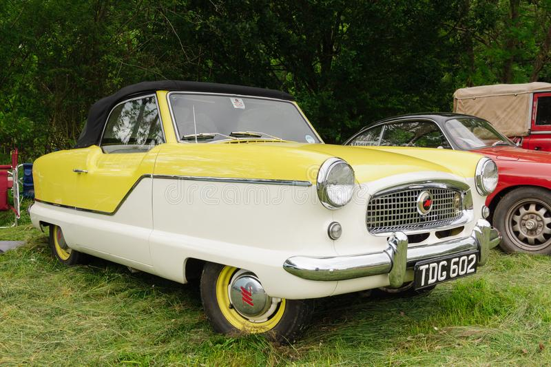 Nash Metropolitan. Nash or Hudson Metropolitan a classic American two door economy or subcompact car built from 1953 to 1961 by Austin in the UK stock image