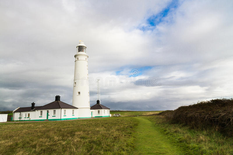 Nash Point East Tower Lighthouse stock photo