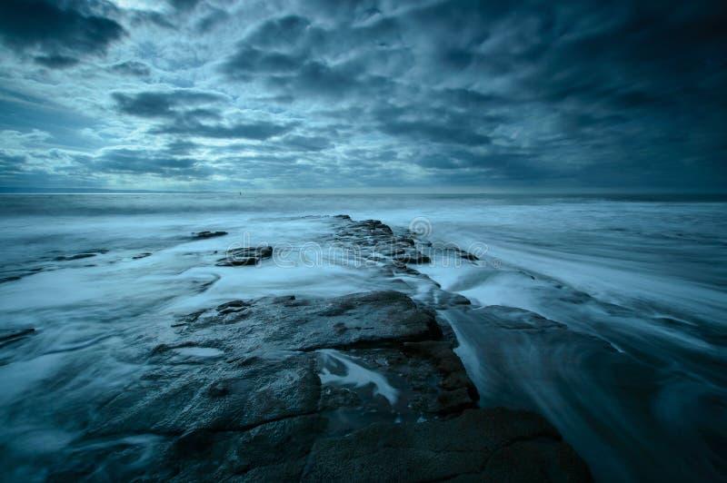 Nash Point, Glamorgan. A protruding rock shelf at Nash Point, on the Glamorgan Coast, Wales stock images