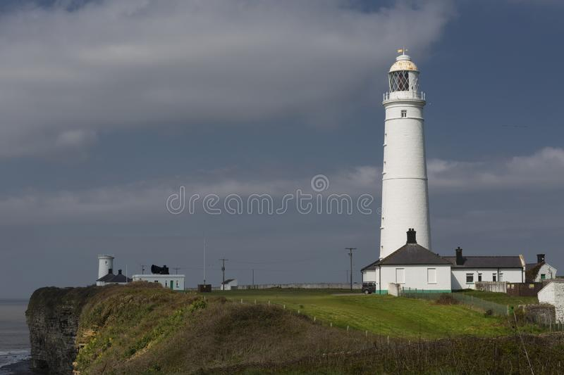 Nash Point Lighthouse royalty free stock photography