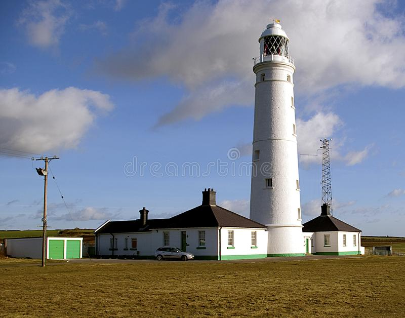 Nash Point lighthouse. View of the lighthouse at Nash Point on the South Wales coast royalty free stock images