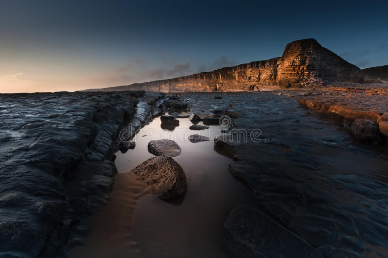 Nash Point Rock Pool stock image