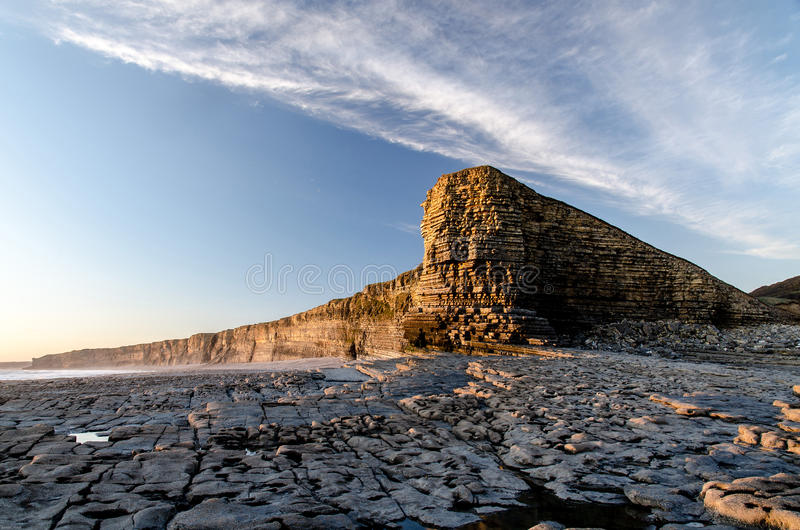 Nash point wales famous place stock image