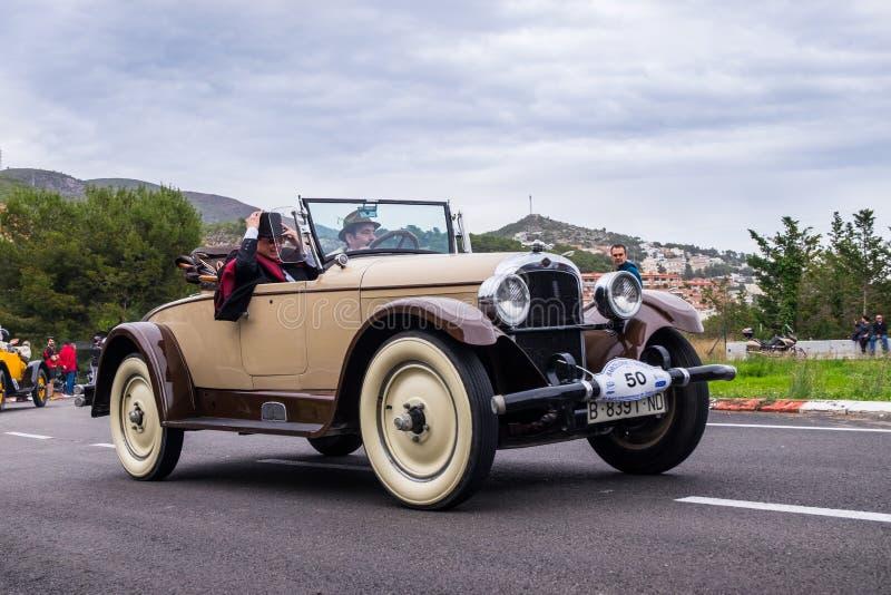 Nash, rallye Барселона - Sitges автомобиля шестидесятого варианта международное винтажное стоковое фото