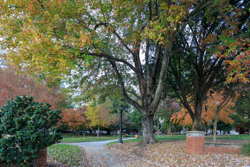 Nash square in downtown Raleigh. NC, US royalty free stock image