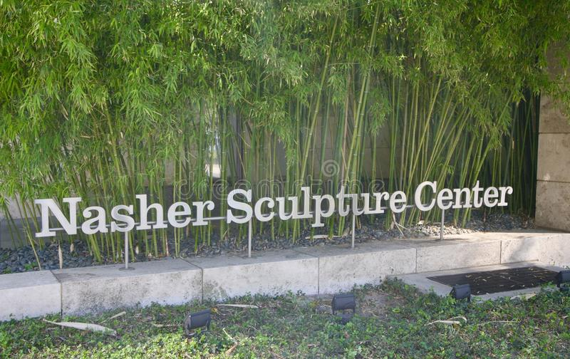 Nasher Sculpture Center Courtyard. An outdoor `roofless` museum situated in downtown Dallas housing the sculpture collection of Raymond and Patsy Nasher royalty free stock image