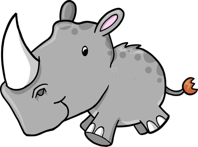 Nashorn-vektorabbildung vektor abbildung