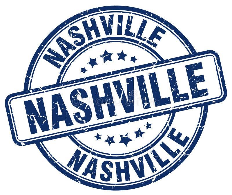 Nashville blue grunge round vintage stamp royalty free illustration