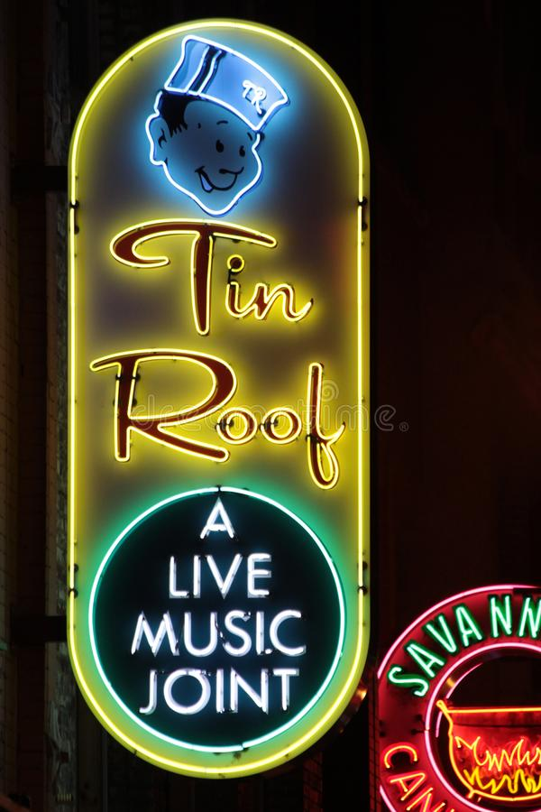 Neon Signs - Nashville, Tennessee royalty free stock images