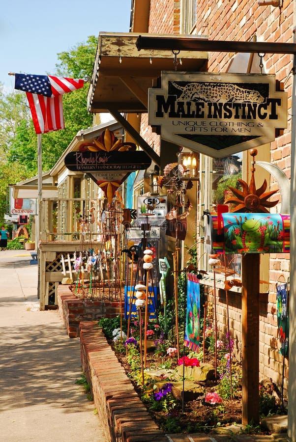 Nashville do centro Indiana imagem de stock