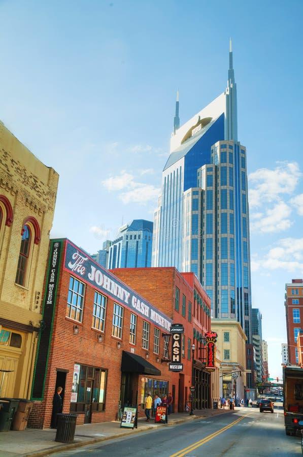 Nashville du centre avec des personnes photographie stock libre de droits