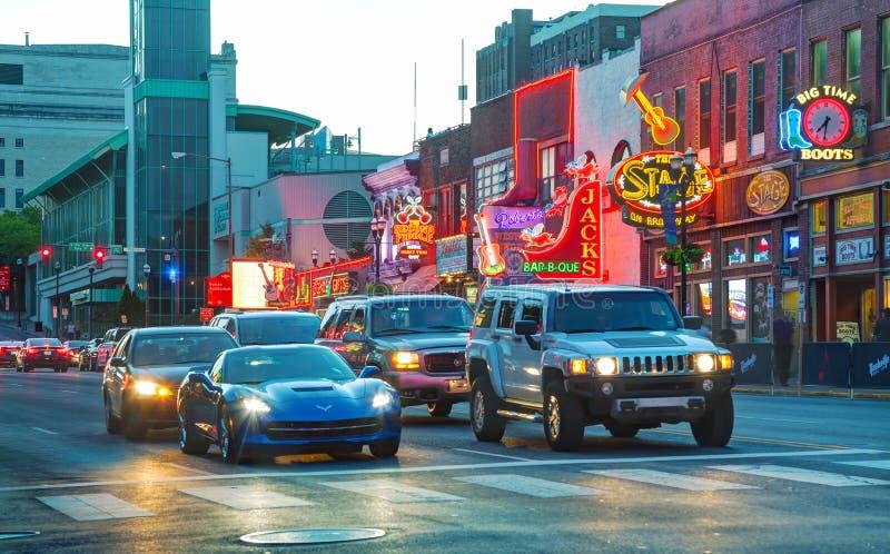 Nashville du centre la nuit photos stock