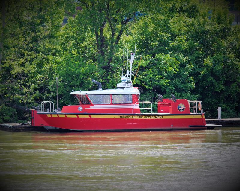 Nashville Fire Department boat stock photo