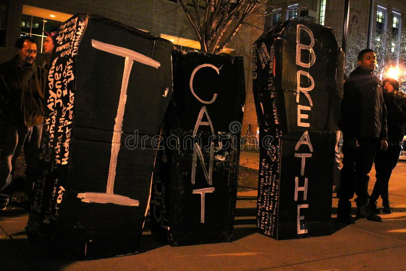 Nashville - het Protestdoodskisten van het Politiebarbarisme royalty-vrije stock foto