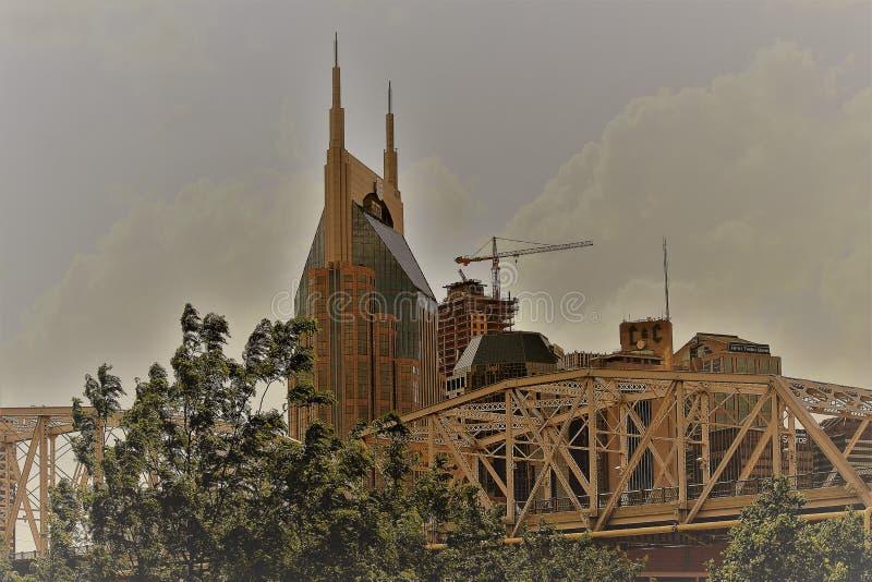 Nashville horisont arkivbild