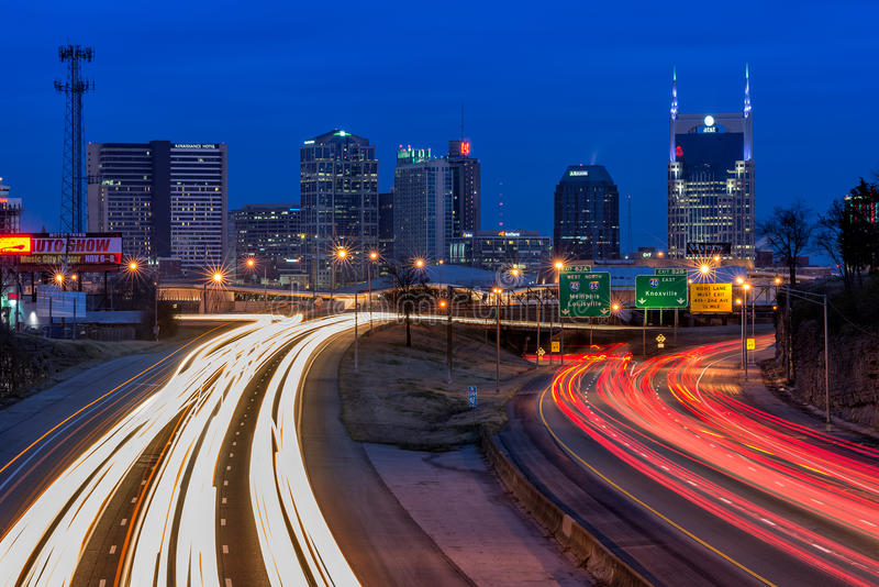Nashville, horizon, crépuscule photos libres de droits
