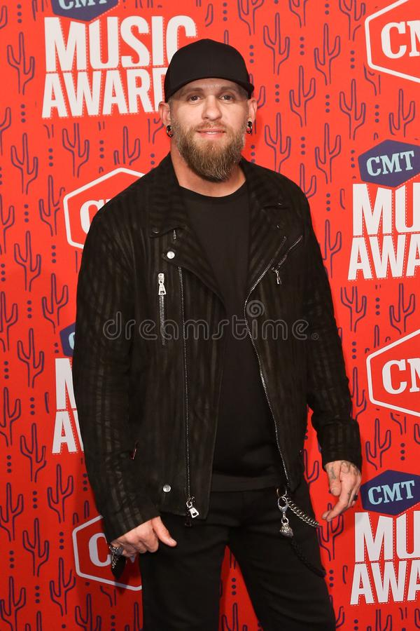 Brantley Gilbert. NASHVILLE - JUN 5: Brantley Gilbert attends the 2019 CMT Music Awards at Bridgestone Arena on June 5, 2019 in Nashville, Tennessee royalty free stock photography