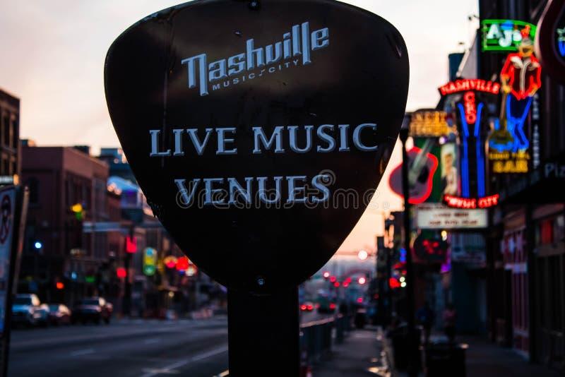 Nashville Live Music Venue imagens de stock royalty free
