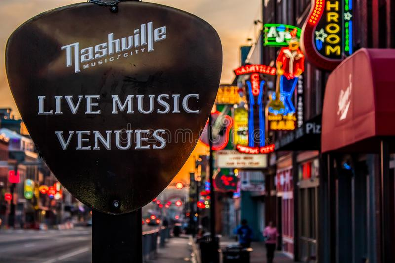 Nashville Live Music Venue photographie stock