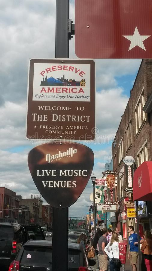 Nashville-Live-Musik stockbild