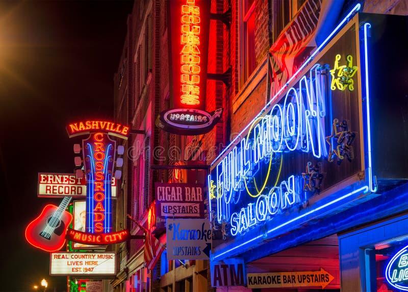 Nashville musikstad som är i stadens centrum arkivfoton