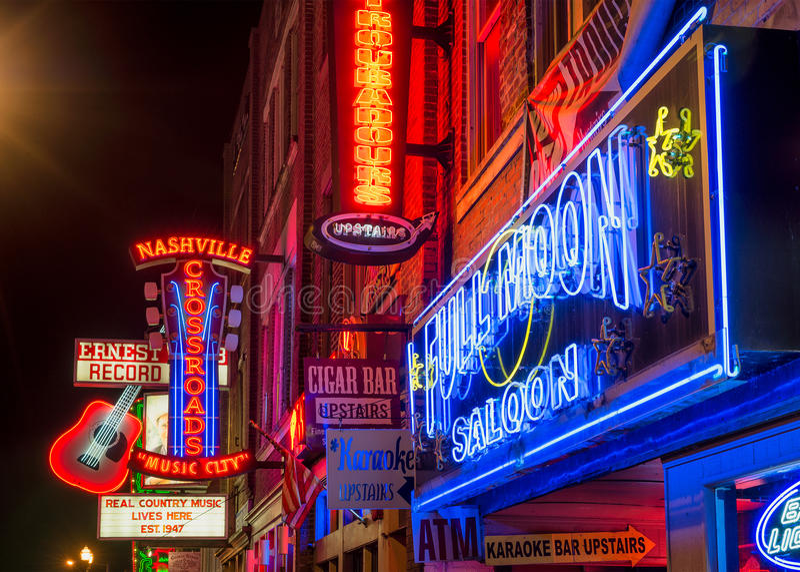 Nashville, Musikstadt, im Stadtzentrum gelegen stockfotos
