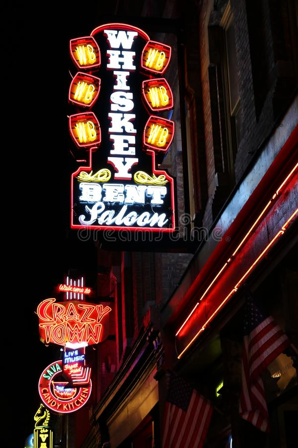 Nashville Neon Signs stock images