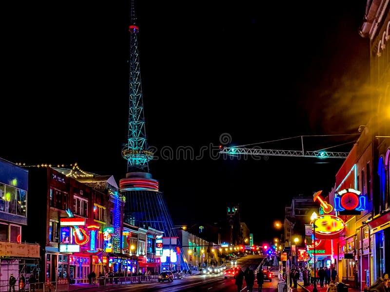 Nashville nocturne photos libres de droits