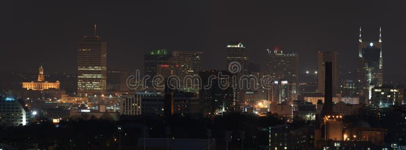 Download Nashville Panorama At Night Stock Image - Image: 18091067