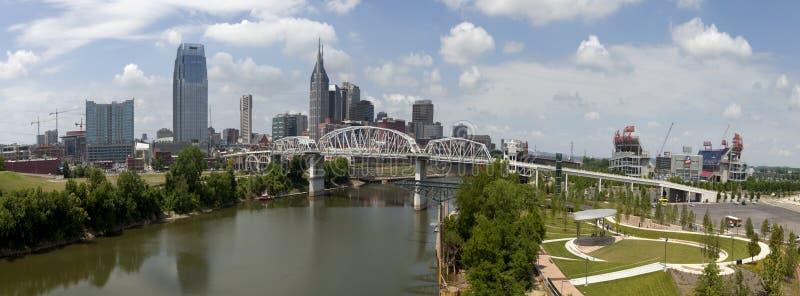 Nashville (panorama-) Tennessee, fotografering för bildbyråer