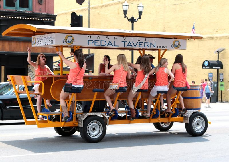 The Nashville Pedal Tavern royalty free stock photography
