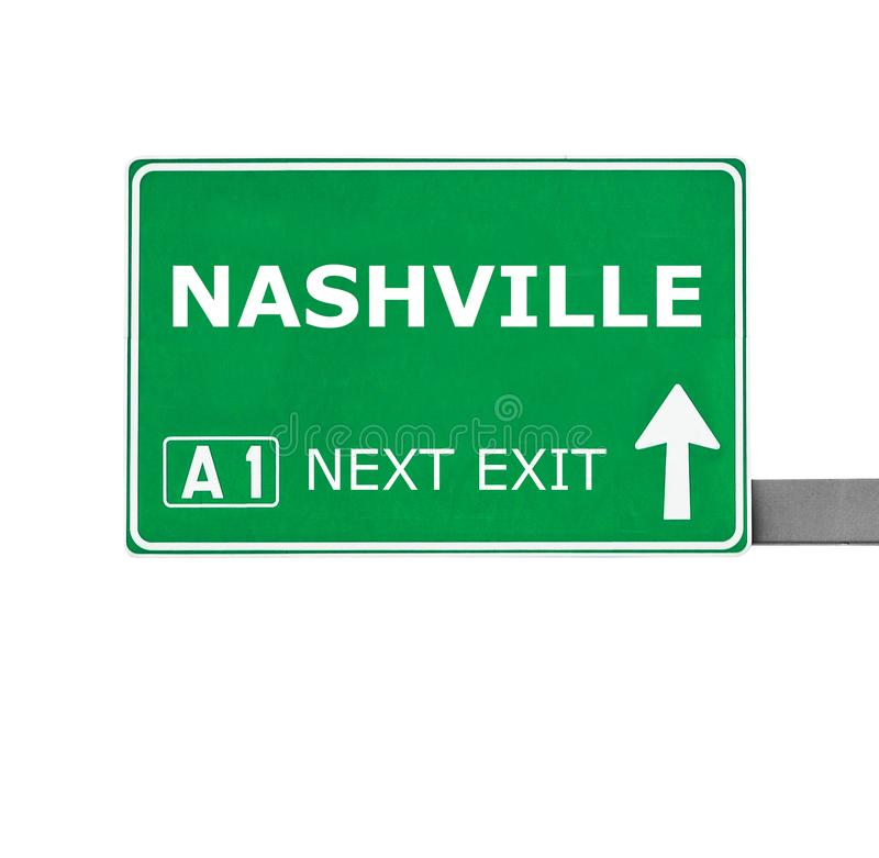 NASHVILLE road sign isolated on white royalty free stock images