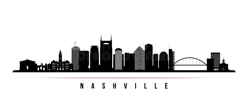 Nashville skyline banner orizzontale royalty illustrazione gratis