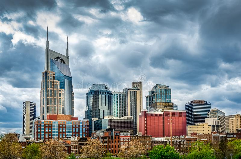 Nashville Skyline on a cloudy day royalty free stock photos