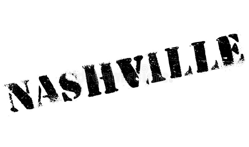 Nashville stamp rubber grunge stock illustration