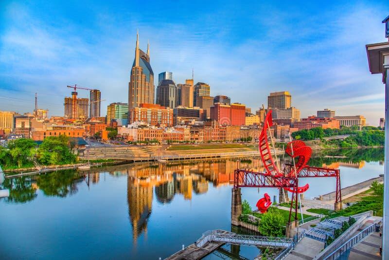 Nashville Tennessee Downtown Skyline images libres de droits