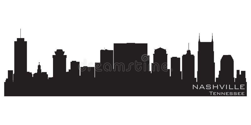 Nashville, Tennessee miasto linia horyzontu Szczegółowa wektorowa sylwetka ilustracji