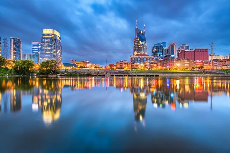Nashville, Tennessee, paesaggio urbano del centro di U.S.A. fotografia stock