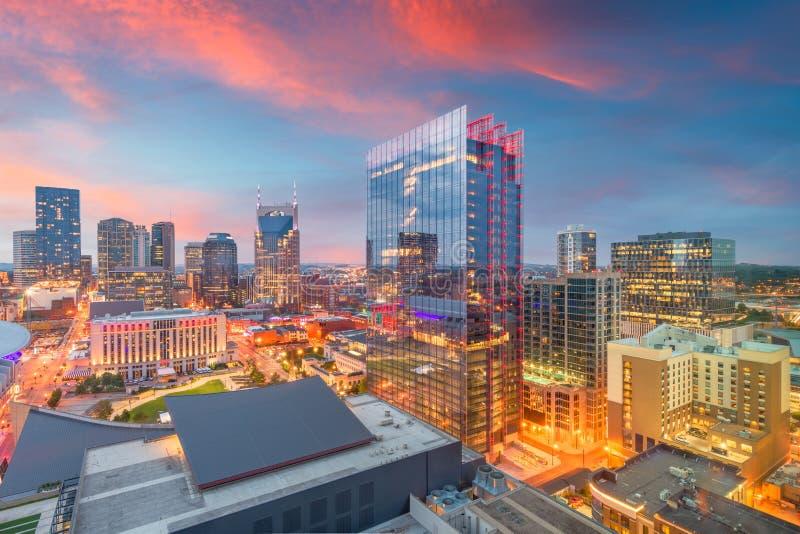 Nashville, Tennessee, paesaggio urbano del centro di U.S.A. fotografie stock libere da diritti